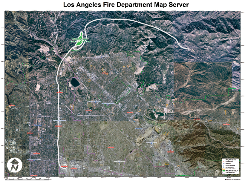 Current La Fire Map.Fire Mapping With Arcgis Xtools Pro